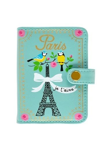 Dünya Style Folk Paris Desenli Kartlık Renkli